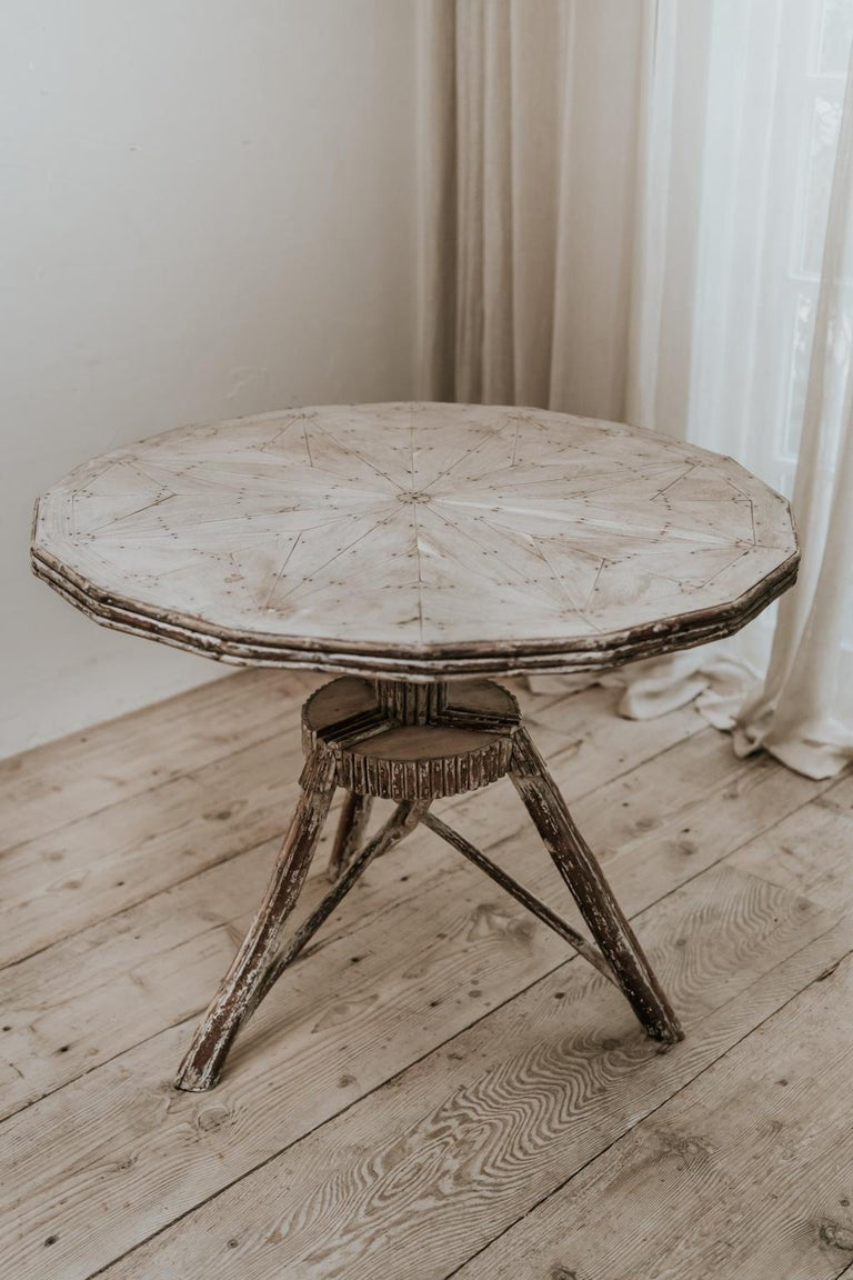 Exceptional Pair of 16-Sided Wooden Tables For Sale 6
