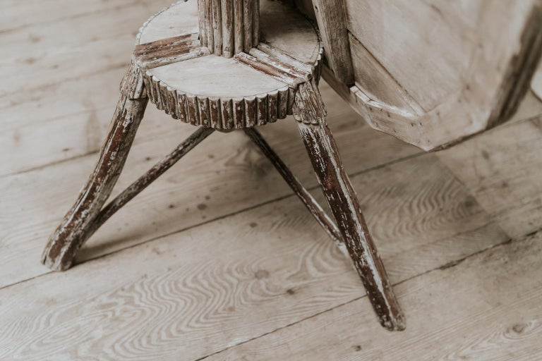 Exceptional Pair of 16-Sided Wooden Tables For Sale 8