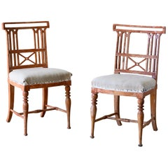 Exceptional Pair of 19th Century Gustavian Chairs