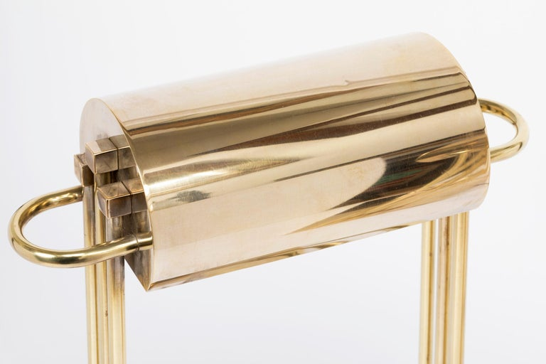 Exceptional Pair of Brass Table Lights by Marcel Breuer, Paris Exhibition, 1925 For Sale 4