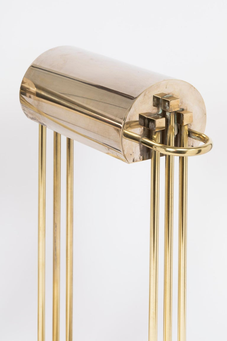 Exceptional pair of brass table lights Bauhaus design by Marcel Breuer, 1925 They were designed for and exhibited at the
