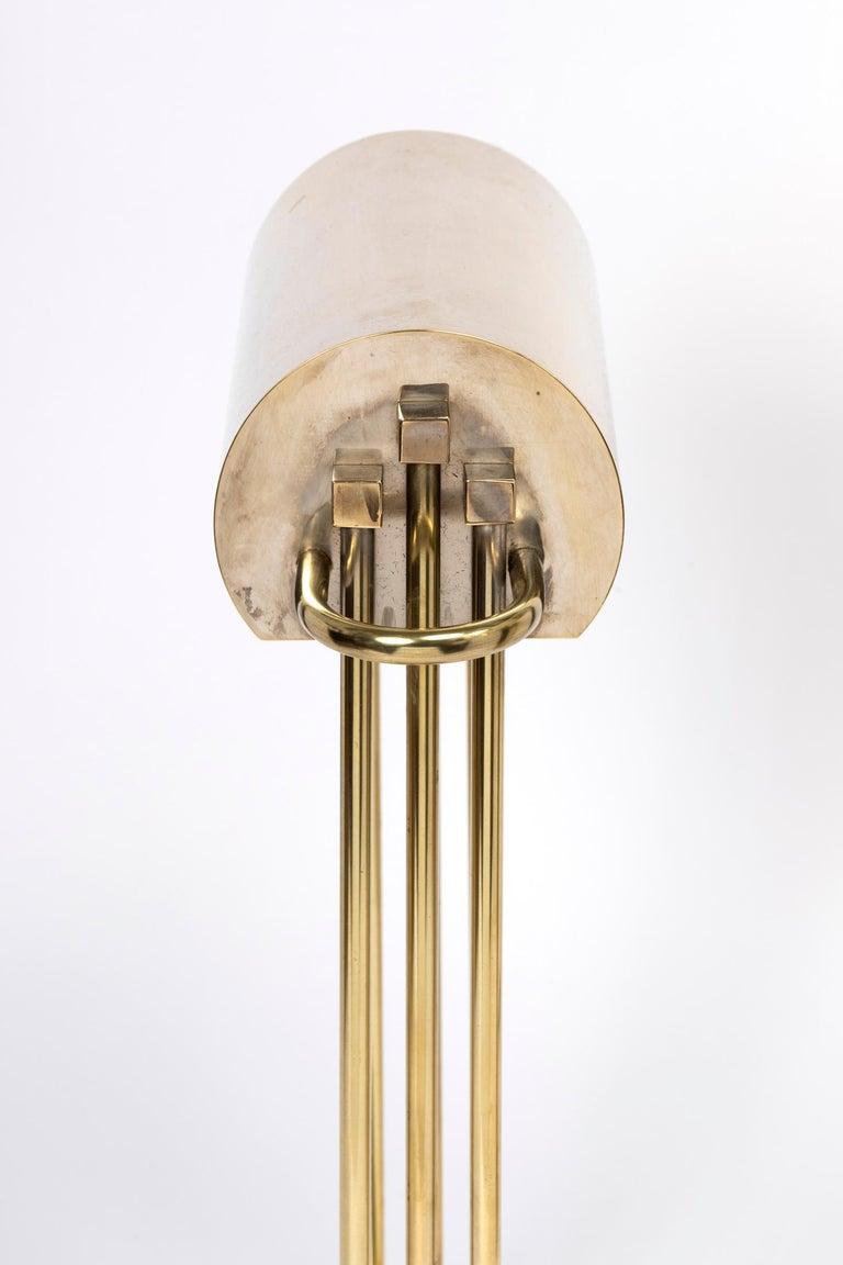 French Exceptional Pair of Brass Table Lights by Marcel Breuer, Paris Exhibition, 1925 For Sale