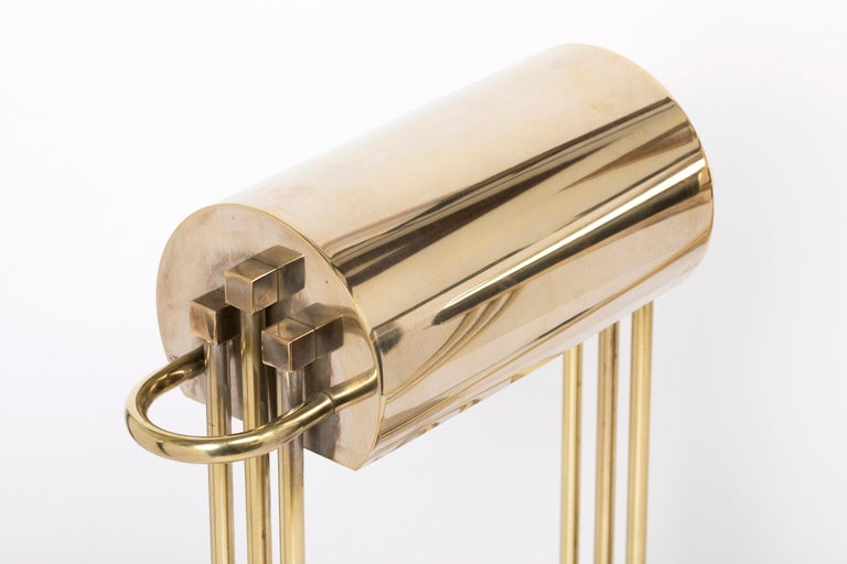 Early 20th Century Exceptional Pair of Brass Table Lights by Marcel Breuer, Paris Exhibition, 1925 For Sale