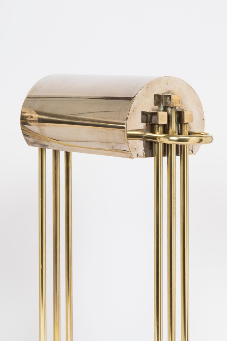 Exceptional Pair of Brass Table Lights by Marcel Breuer, Paris Exhibition, 1925 For Sale 1