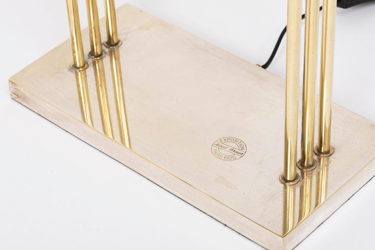 Exceptional Pair of Brass Table Lights by Marcel Breuer, Paris Exhibition, 1925 For Sale 2