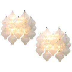 Exceptional Pair of Kalmar 'Tulipan' Wall Sconces, 1960s