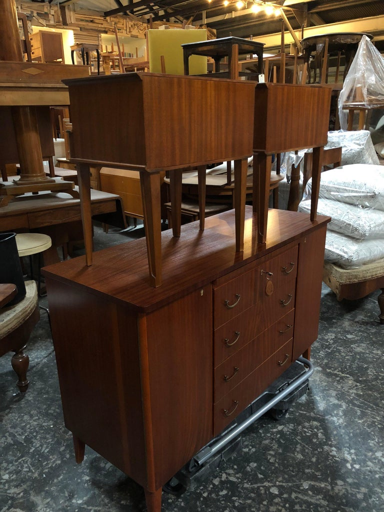 Exceptional Pair of Mahogany Night Stands or End Tables For Sale 1
