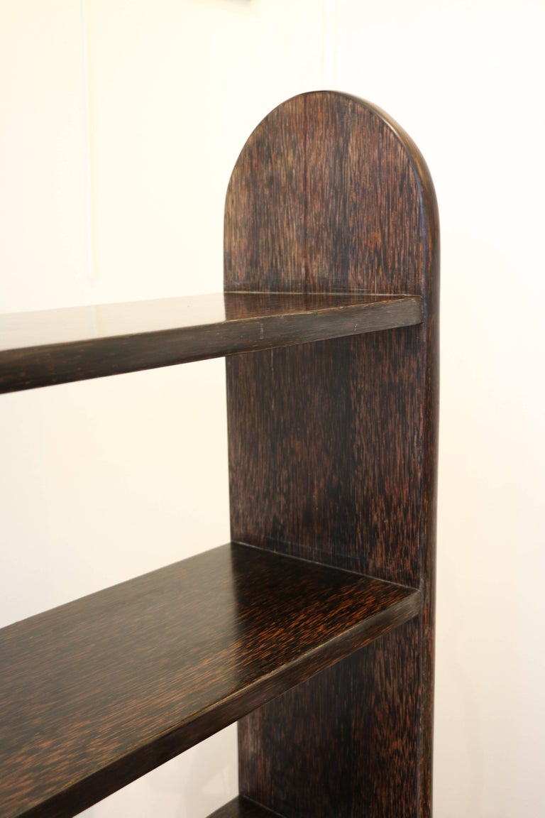 Exceptional Palmwood Bookcase by Eugène Printz, Art Deco, France, 1930s For Sale 4