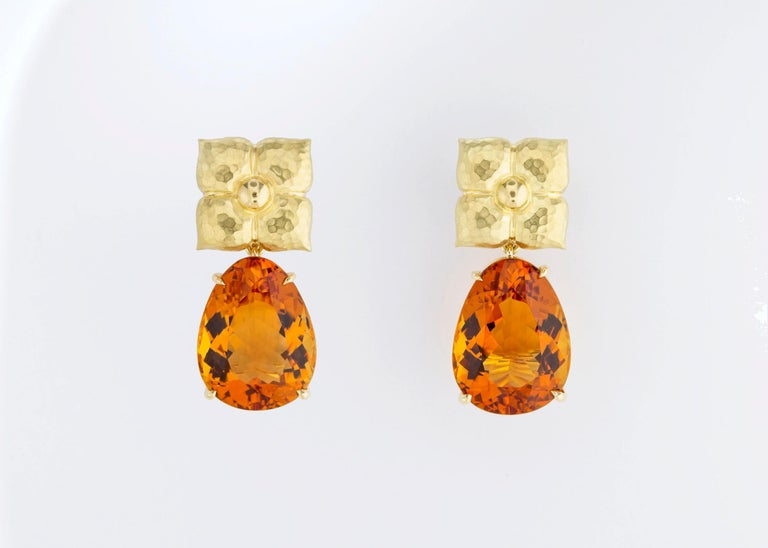 Contemporary  Paloma Picasso for Tiffany & Co. Gold and Citrine Earrings For Sale