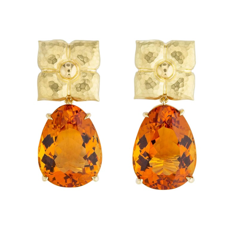 Paloma Picasso for Tiffany & Co. Gold and Citrine Earrings For Sale