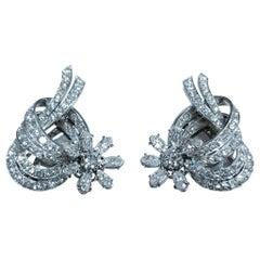 Exceptional Platinum Certified 8.75 Carat Diamond Earrings