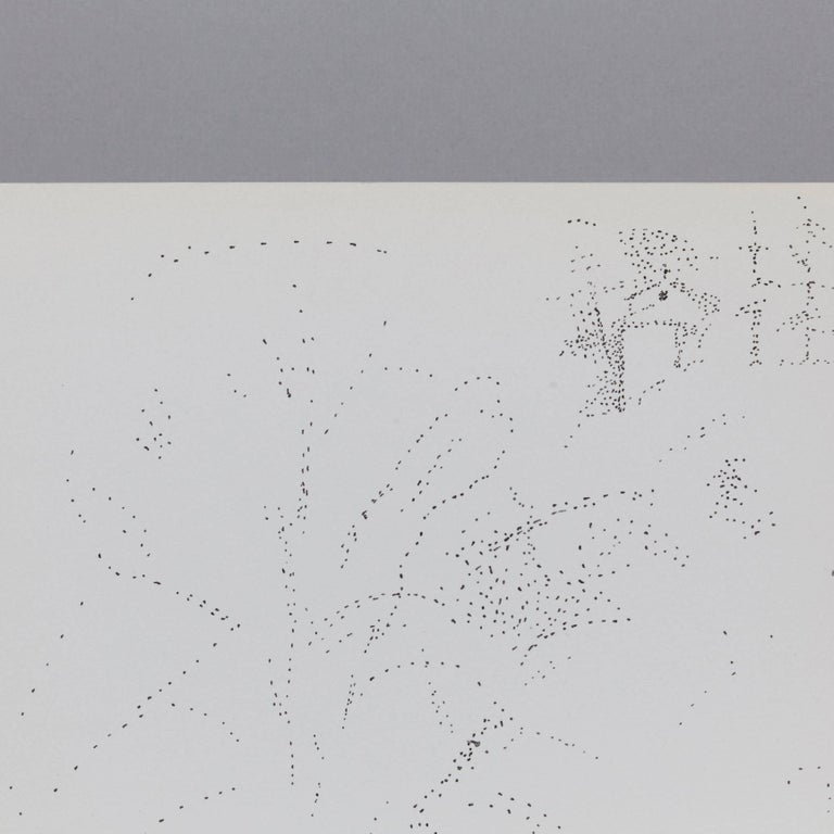 Mid-Century Modern Exceptional Pointillist Drawing by Dora Maar, circa 1960 For Sale