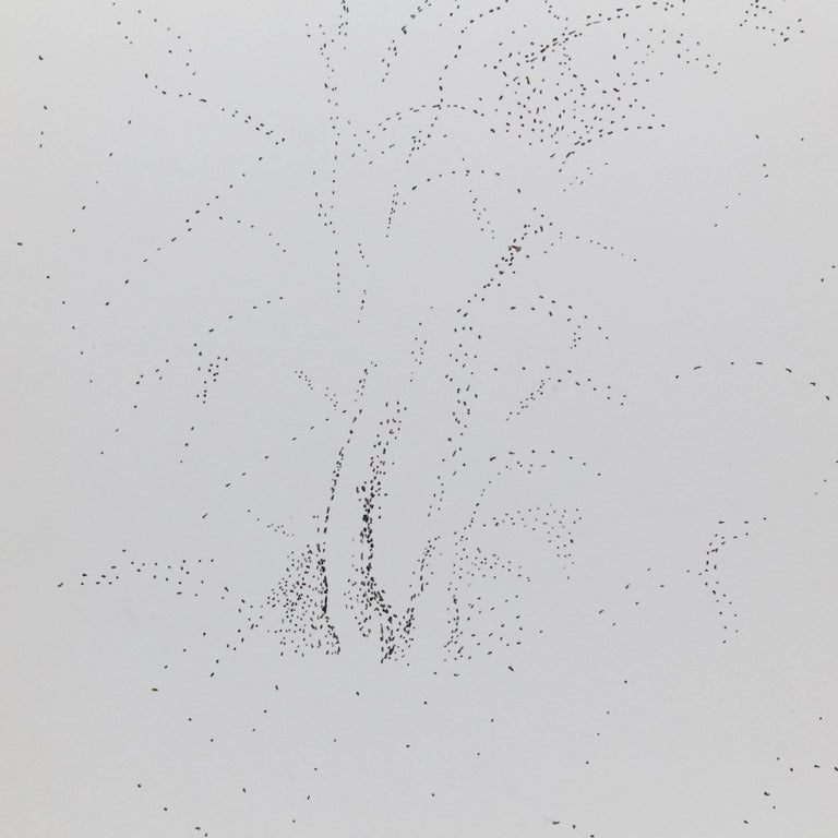 French Exceptional Pointillist Drawing by Dora Maar, circa 1960 For Sale