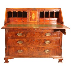 Exceptional Quality 18th Century Mahogany Georgian Bureau or Secretaire