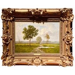 Exceptional Quality Antique French Barbizon Landscape by Leon Richet