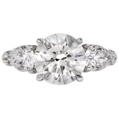 Quality GIA Certified 2 Carat Russian Hearts and Arrows Eye Clean