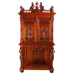 Exceptional Renaissance Style Cabinet Attributed to H.A Fourdinois