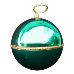 Exceptional Reuge Sainte Croix Christmas Ball Ornament Music Box Silent Night