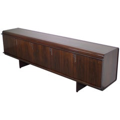 Exceptional Rosewood Saporiti 'Pellicano' Sideboard by Vittorio Introini, 1960s