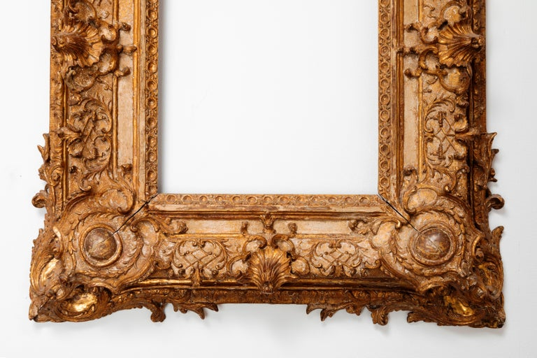 Early 17th Century Exceptional Royal Quality French Regence Frame, Mirror, France, 1720s For Sale