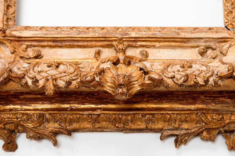 Exceptional Royal Quality French Regence Frame, Mirror, France, 1720s For Sale 2