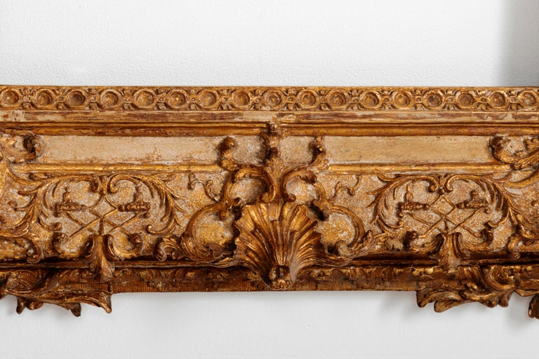 Exceptional Royal Quality French Regence Frame, Mirror, France, 1720s For Sale 8