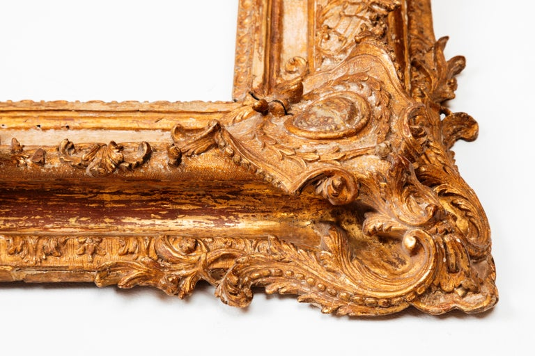Giltwood Exceptional Royal Quality French Regence Frame, Mirror, France, 1720s For Sale