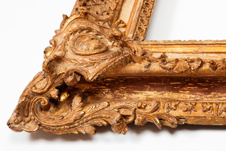 Exceptional Royal Quality French Regence Frame, Mirror, France, 1720s For Sale 1