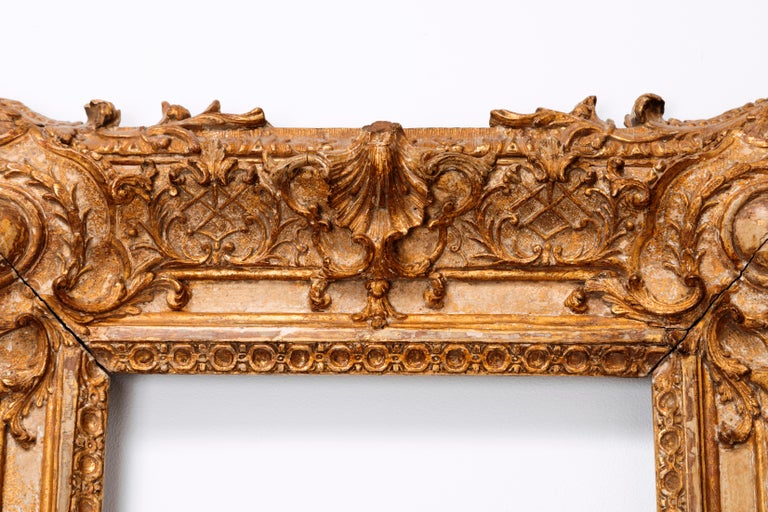 Exceptional Royal Quality French Regence Frame, Mirror, France, 1720s For Sale 9