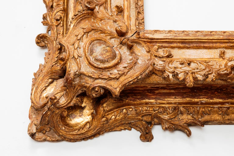 Exceptional Royal Quality French Regence Frame, Mirror, France, 1720s For Sale 10