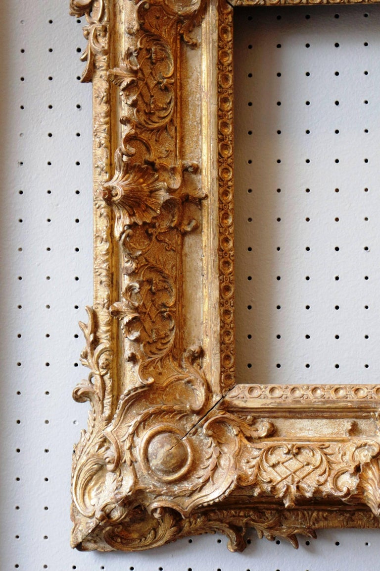 Exceptional Royal Quality French Regence Frame, Mirror, France, 1720s For Sale 3
