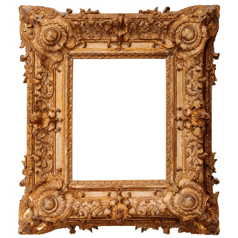 Exceptional Royal Quality French Regence Frame, Mirror, France, 1720s For Sale