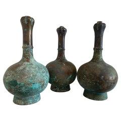 Exceptional Set of 3 Bronze Han Vases