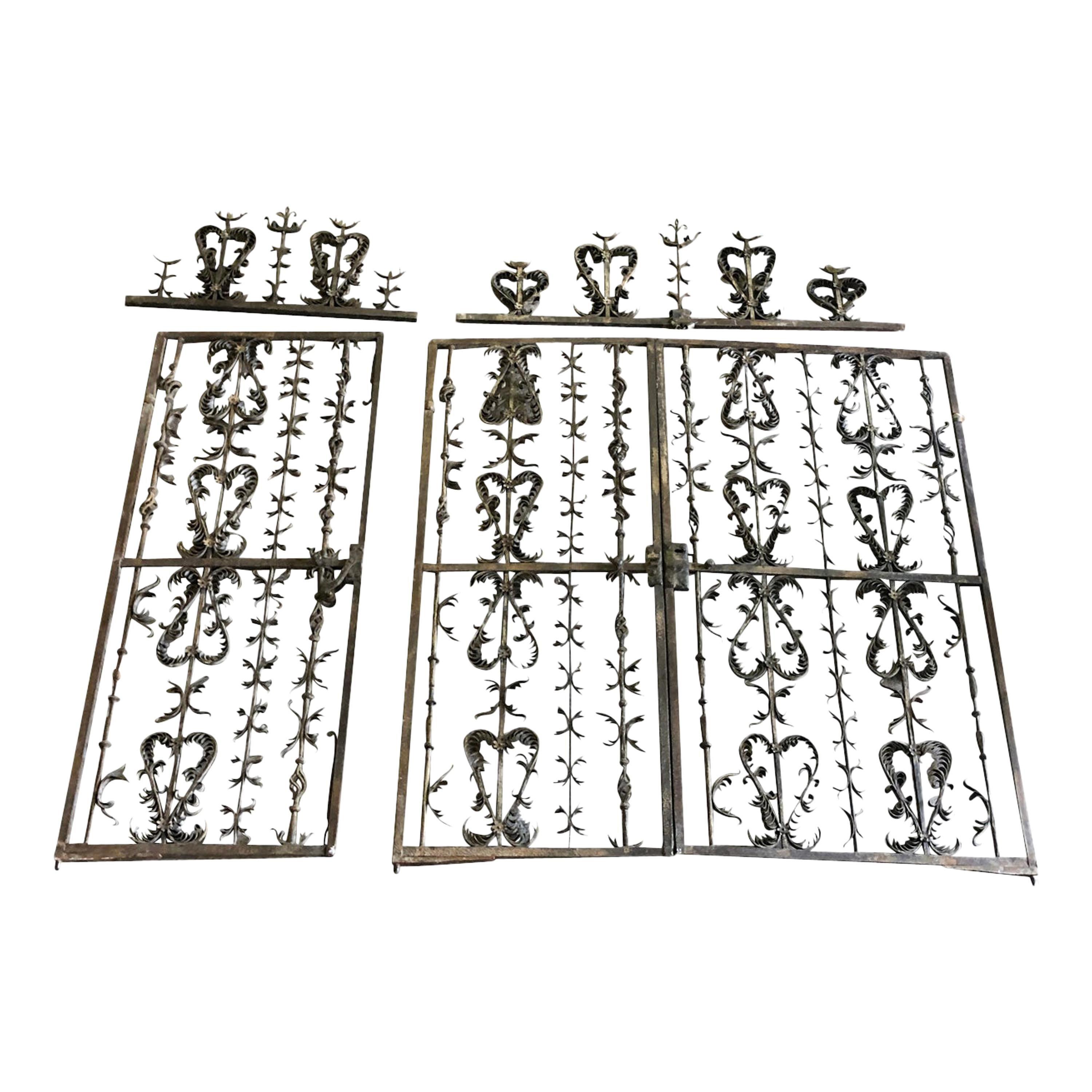 Exceptional Set of Spanish Late 16th-Early 17th Century Iron Gates