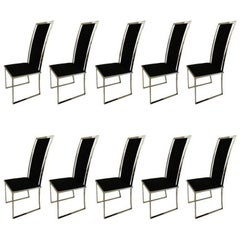 Exceptional Set of Ten Michel Mangematin Chairs