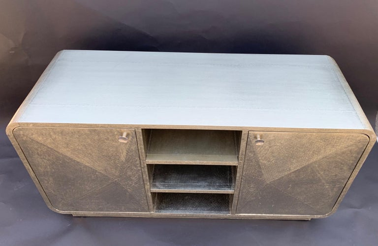 Metal Exceptional Sideboard Credenza For Sale