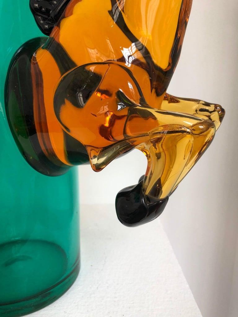 Exceptional Silvano Signoretto Horse Sculpture Vase, Murano, 1960s 7