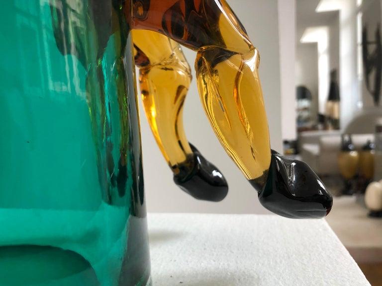 Exceptional Silvano Signoretto Horse Sculpture Vase, Murano, 1960s 1