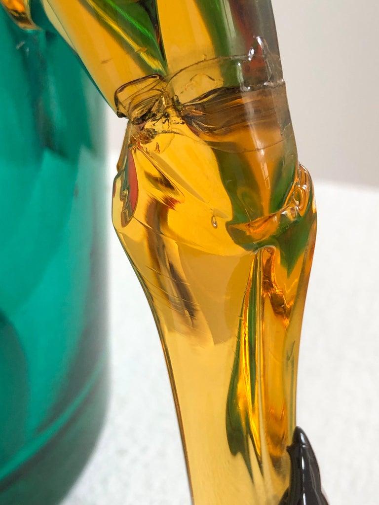 Exceptional Silvano Signoretto Horse Sculpture Vase, Murano, 1960s 3