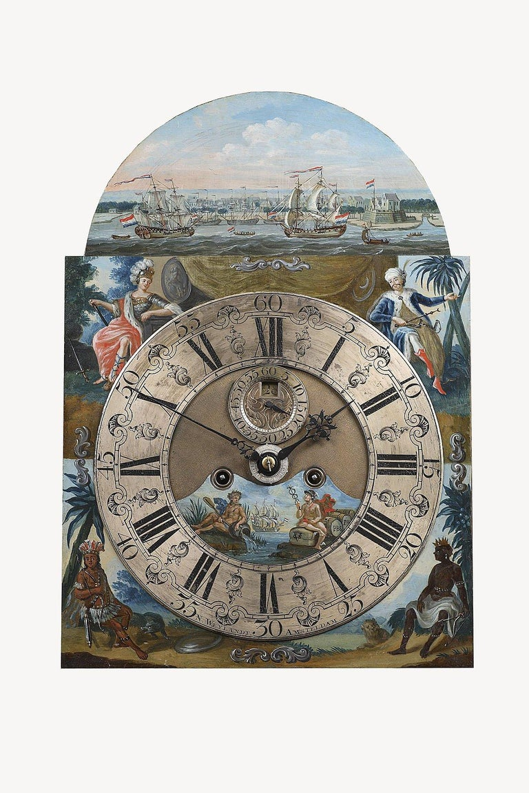 A Surinam-themed Amsterdam long-case clock