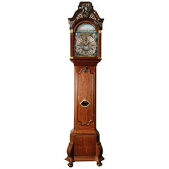 Exceptional Surinam-Themed Amsterdam Long-Case Clock