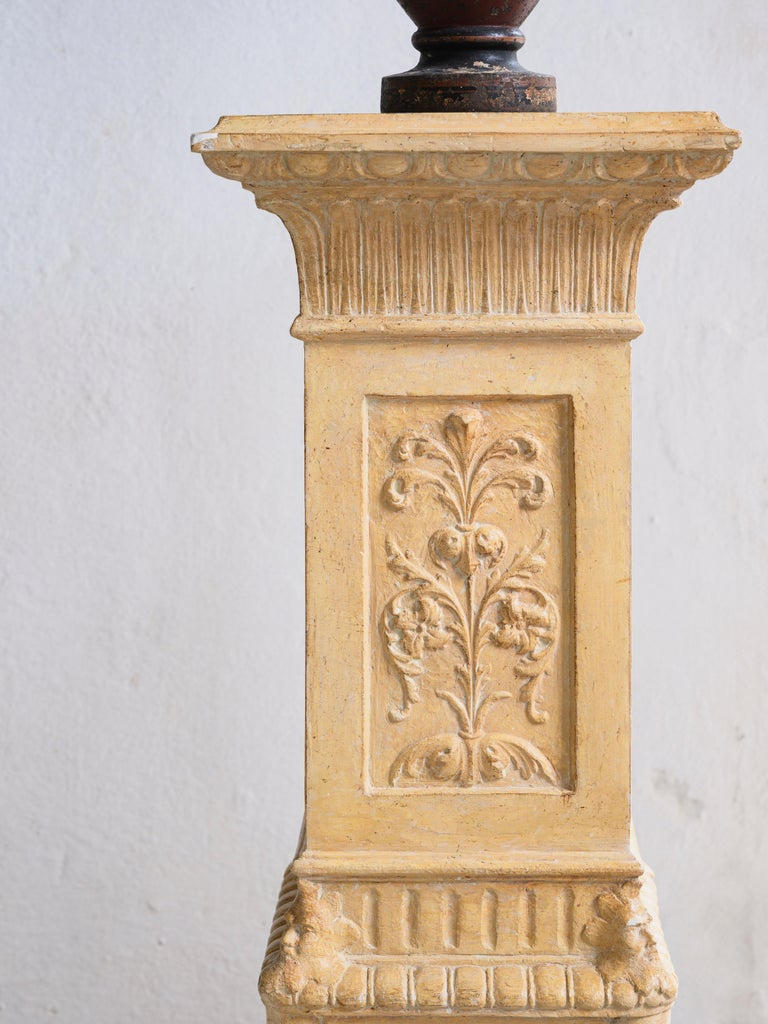 Exceptional Swedish 19th Century Empire Plaster Column For Sale 1