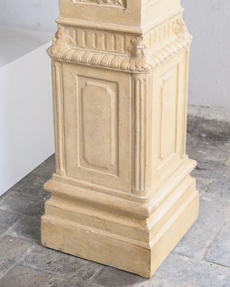 Exceptional Swedish 19th Century Empire Plaster Column For Sale 3