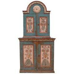 Exceptional Swedish 'Skånkskåp' Allmoge Cabinet, circa 1800