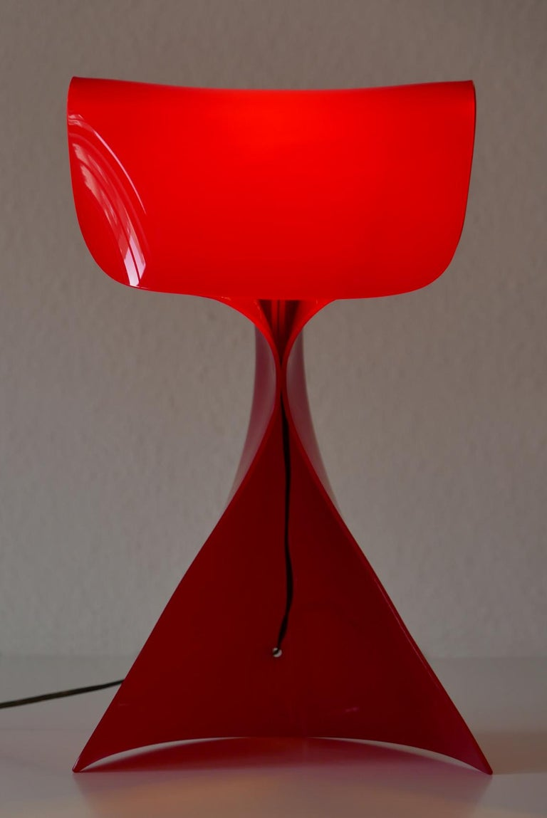 Exceptional Table Lamp by Hanns Hoffmann-Lederer for Heinz Hecht, 1950s, Germany For Sale 4