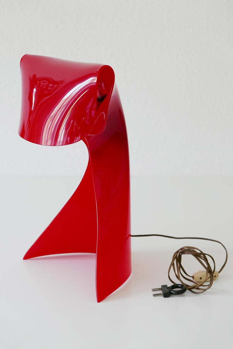 Exceptional Table Lamp by Hanns Hoffmann-Lederer for Heinz Hecht, 1950s, Germany For Sale 13