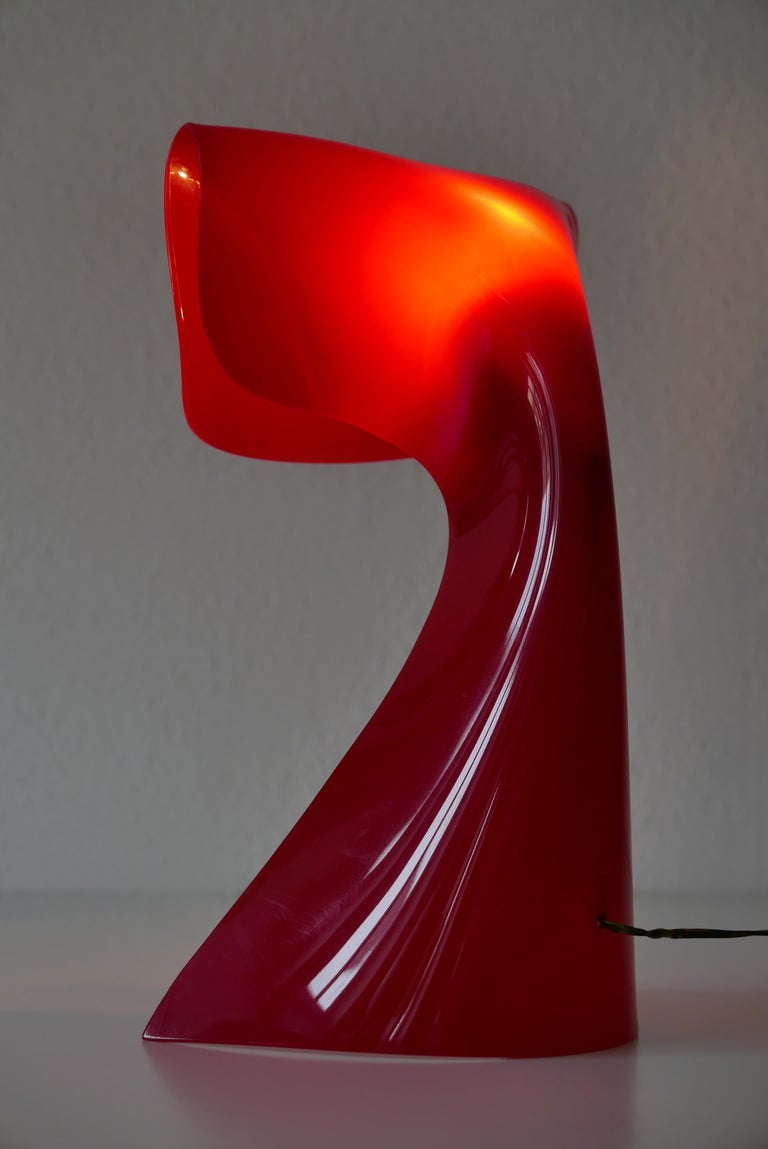 Lucite Exceptional Table Lamp by Hanns Hoffmann-Lederer for Heinz Hecht, 1950s, Germany For Sale