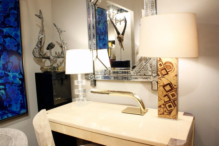 Hand-Crafted Exceptional Table Lamp by Karl Springer For Sale