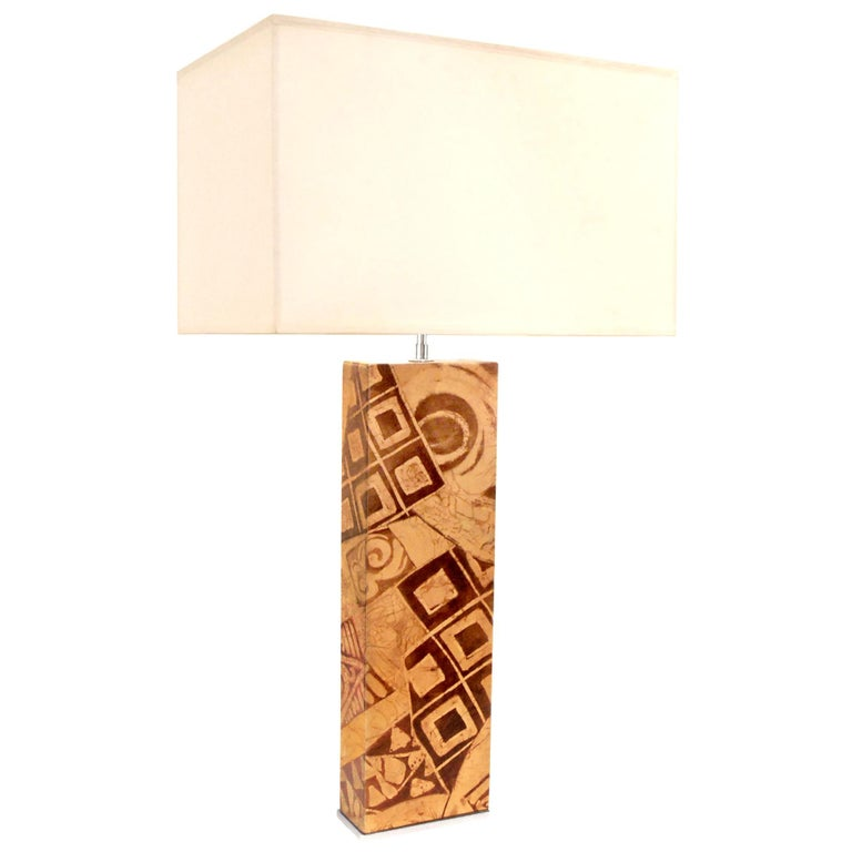 Exceptional Table Lamp by Karl Springer For Sale