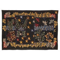 """Exceptional Tapestry by Jean Lurçat """"Butterflies and Foliage"""""""